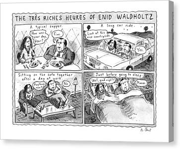The Tres Riches Heures Of Enid Waldholtz Canvas Print by Roz Chast