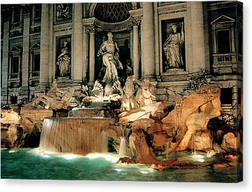 Architecture Canvas Print - The Trevi Fountain by Warren Home Decor