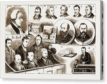 The Trial At Belfast Of Members Of The Irish Patriotic Canvas Print by Litz Collection