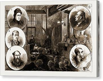 The Trial Of Patrick Odonnell At The Old Bailey Canvas Print by Litz Collection