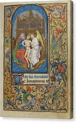 The Trinity Lieven Van Lathem, Flemish, About 1430 - 1493 Canvas Print by Litz Collection