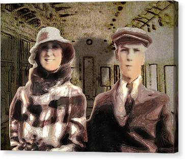 Newfoundlander Canvas Print - The Trip by Janet Kearns