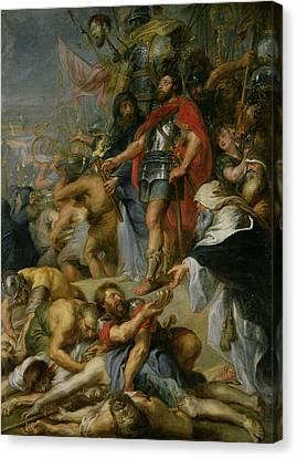The Triumph Of Judas Maccabeus Canvas Print by Peter Paul Rubens