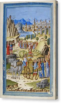 The Triumph Of Love Canvas Print by British Library