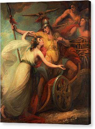 The Triumph Of Mercy, From Collins Ode To Mercy Canvas Print by Litz Collection