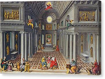 The Triumph Of The Church Or An Allegory Of Christianity Oil On Canvas Canvas Print