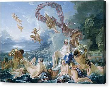 The Triumph Of Venus Canvas Print by Francois Boucher