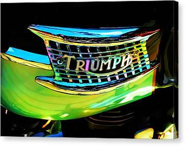 The Triumph Petrol Tank Canvas Print