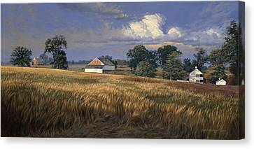 The Trostle Farm Gettysburg Canvas Print by David Henderson