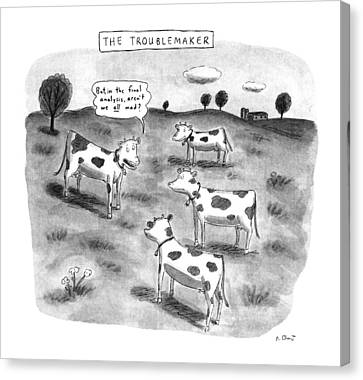 Farm Fields Canvas Print - The Troublemaker by Roz Chast