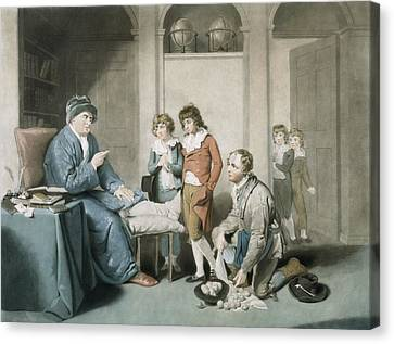 The Truants, Engraved By William Ward Canvas Print by William Redmore Bigg