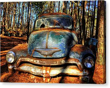 The Truck In The Woods Canvas Print