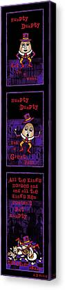 The Truth About Humpty Dumpty Canvas Print by Celtic Artist Angela Dawn MacKay