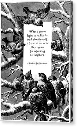Frailty Canvas Print - The Truth About Ourselves by Mike Flynn