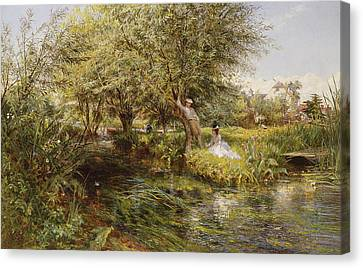 The Trysting Place Canvas Print by Charles James Lewis
