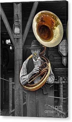 Tubist Canvas Print - The Tuba Cowboy II by Lee Dos Santos