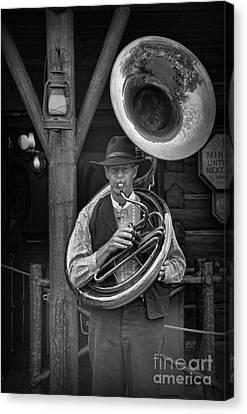 Tubist Canvas Print - The Tuba Cowboy by Lee Dos Santos