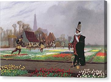 The Tulip Folly Canvas Print by Jean Leon Gerome
