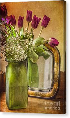 The Tulips Stand Arrayed - A Still Life Canvas Print by Terry Rowe