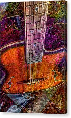 The Tuning Of Color Digital Guitar Art By Steven Langston Canvas Print by Steven Lebron Langston