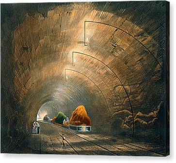 The Tunnel, From Coloured View Canvas Print by Thomas Talbot Bury