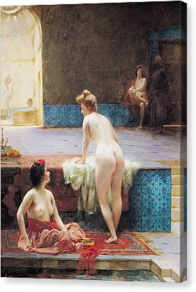 Harem Canvas Print - The Turkish Bath, 1896 Oil On Canvas by Serkis Diranian
