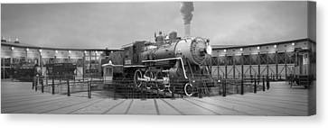 The Turntable And Roundhouse Canvas Print by Mike McGlothlen
