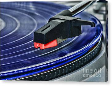 The Turntable Canvas Print by Paul Ward