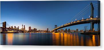 Canvas Print featuring the photograph The Two Bridges by Mihai Andritoiu