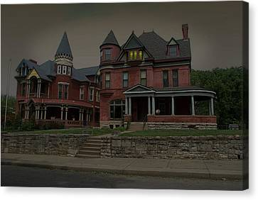 The Two Sisters Haunted House Canvas Print by Tim McCullough