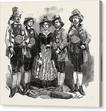 The Tyrolese Minstrels. Mdlle. Margreiter Canvas Print by English School