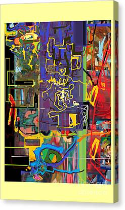 The Tzaddik Lives On Emunah 9c Canvas Print by David Baruch Wolk