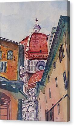 The Ultimate Alley View Canvas Print by Jenny Armitage