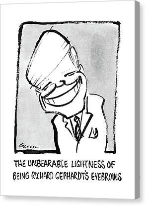 The Unbearable Lightness Of Being Richard Canvas Print by Lee Lorenz