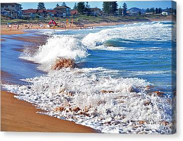Undefined Canvas Print - The Undefined Beauty Of Waves by Kaye Menner