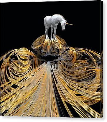 The Unicorns Golden Path Canvas Print by Michael Durst