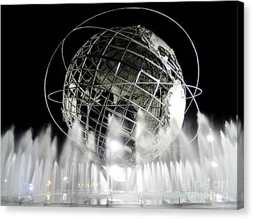 The Unisphere's 50th Anniversary Canvas Print by Ed Weidman
