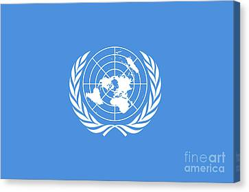 The United Nations Flag  Authentic Version Canvas Print