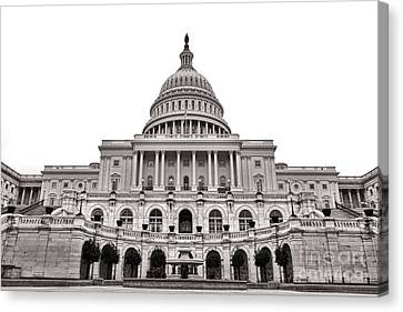 D.c. Canvas Print - The United States Capitol  by Olivier Le Queinec