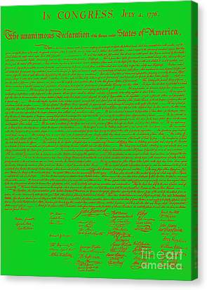 The United States Declaration Of Independence 20130215 Canvas Print by Wingsdomain Art and Photography
