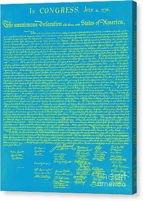The United States Declaration Of Independence 20130215p68 Canvas Print by Wingsdomain Art and Photography