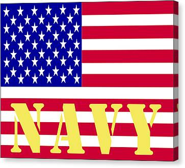 The United States Navy Canvas Print by Barbara Snyder