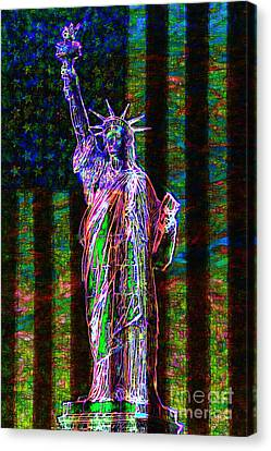 The United States Of America 20130115 Canvas Print by Wingsdomain Art and Photography