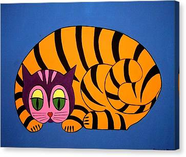 The Unity Cat Canvas Print by Stephanie Moore