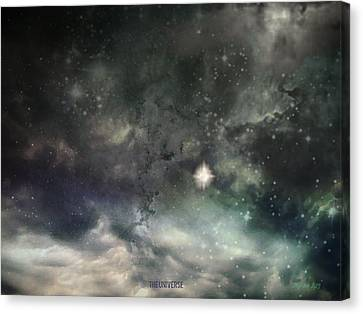 The Universe Canvas Print by Cynthia Lassiter