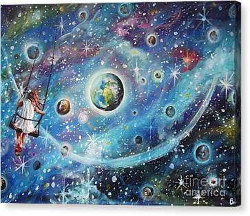 The Universe Is My Playground Canvas Print by Dariusz Orszulik