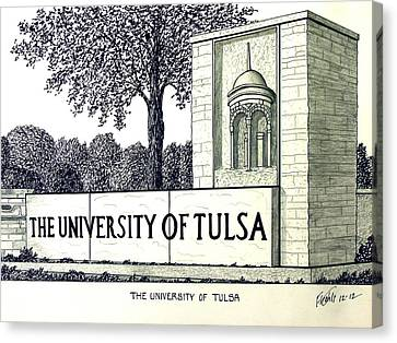 The University Of Tulsa Canvas Print by Frederic Kohli