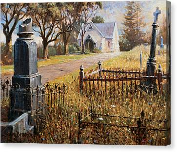The Upward Path  Waikumete Cemetery  Auckland Canvas Print by Graham Braddock