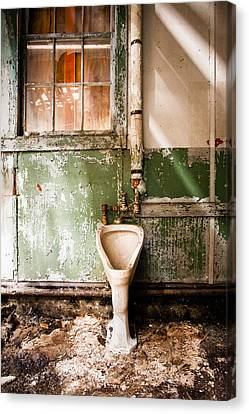 The Urinal Canvas Print by Gary Heller