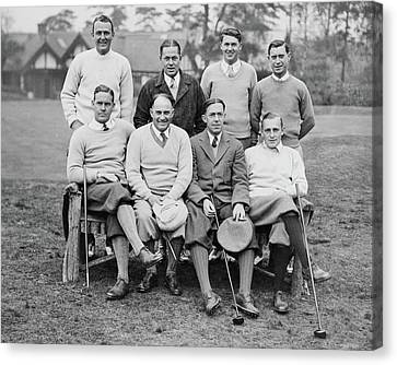 The U.s. Walker Cup Golf Team Canvas Print by  Keystone Press Agency Ltd.
